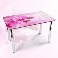 Наклейка на стол Розовые орхидеи бутоны, декоративные наклейки для кухни фотопечать цветы, розовый 600*1000 мм
