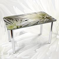 Наклейка на стол Белые хризантемы, виниловые интерьерные наклейки для мебели, цветы, белый, 600*1000 мм