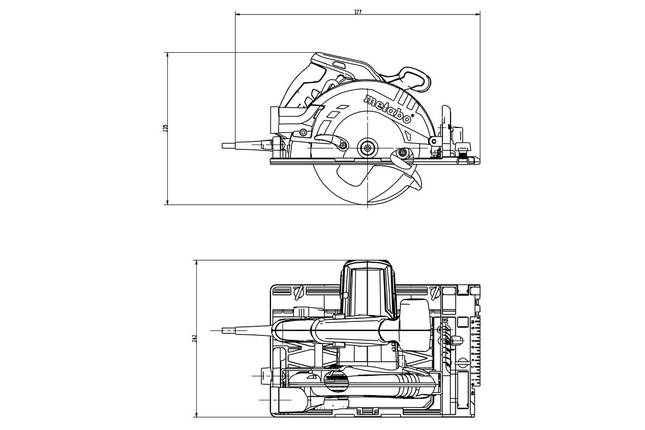 KS 55 FS Ручна циркулярна пила 1200Вт, коробка, фото 2