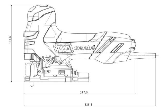 STE 140 Industrial Лобзик 750Вт. чемодан, фото 2