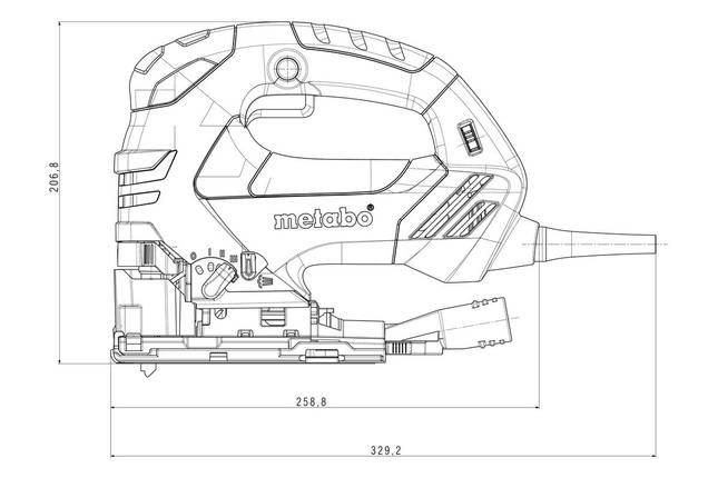 STEB 140 PLUS Лобзик 750Вт. чемодан, фото 2