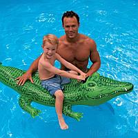 "IIntex Плотик 58546 NP ""Крокодил"" (12) размером 168х86см, от 3-х лет"