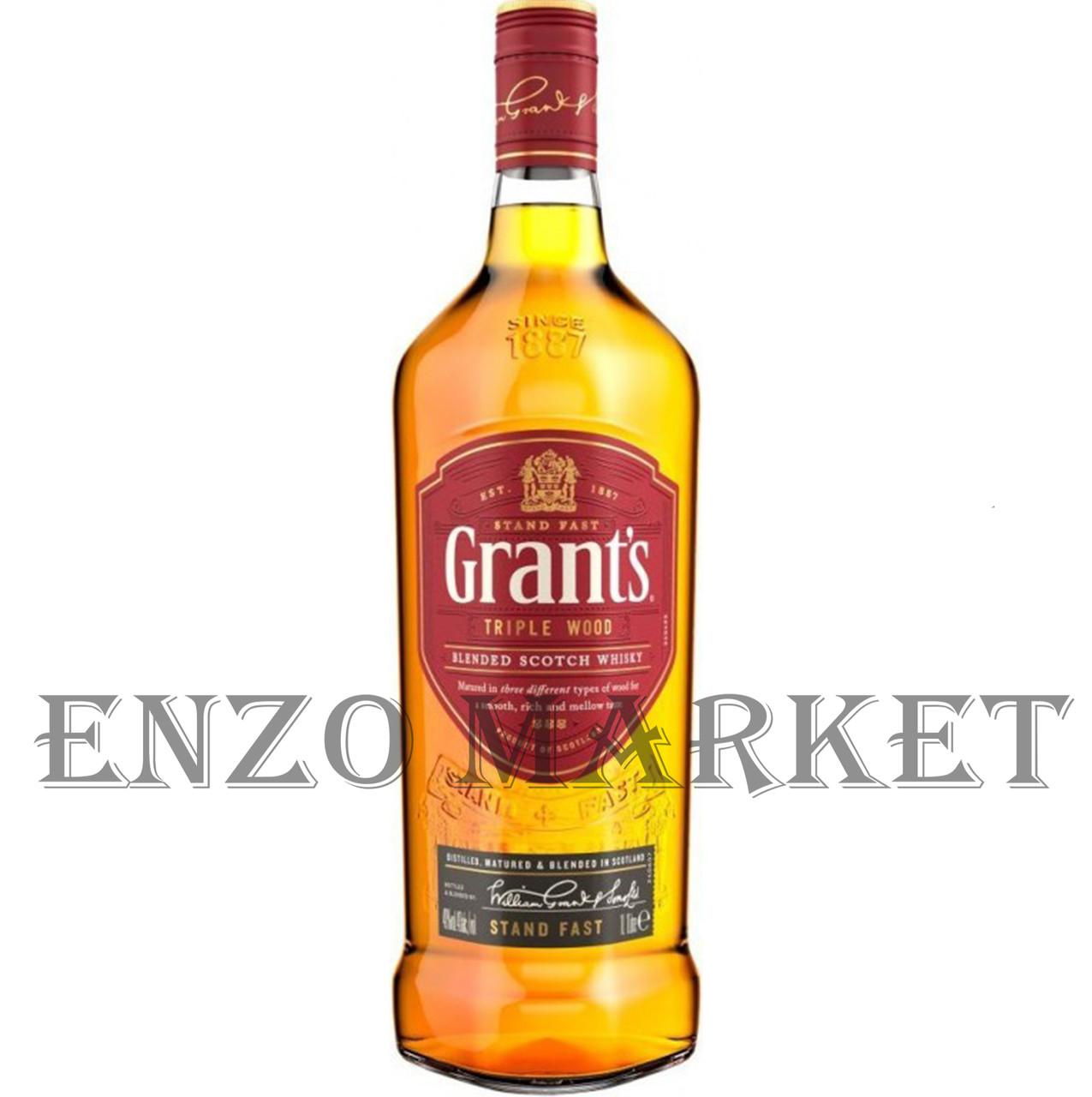 Виски Grant's Triple Wood (Грантс Трипл Вуд) 43%, 1 литр
