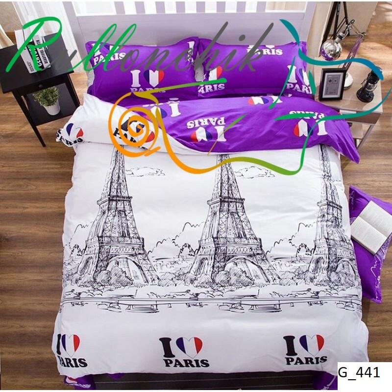 Качественное постельное бельё бязь Париж (евро)