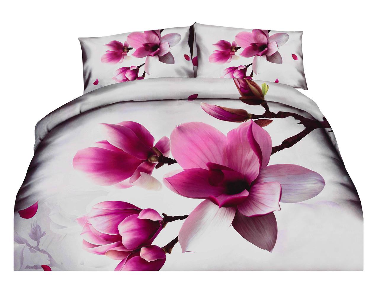 Комплект постельного белья Микроволокно HXDD-724 M&M 6871 Белый, Розовый