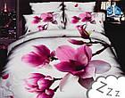 Комплект постельного белья Микроволокно HXDD-724 M&M 6871 Белый, Розовый, фото 2