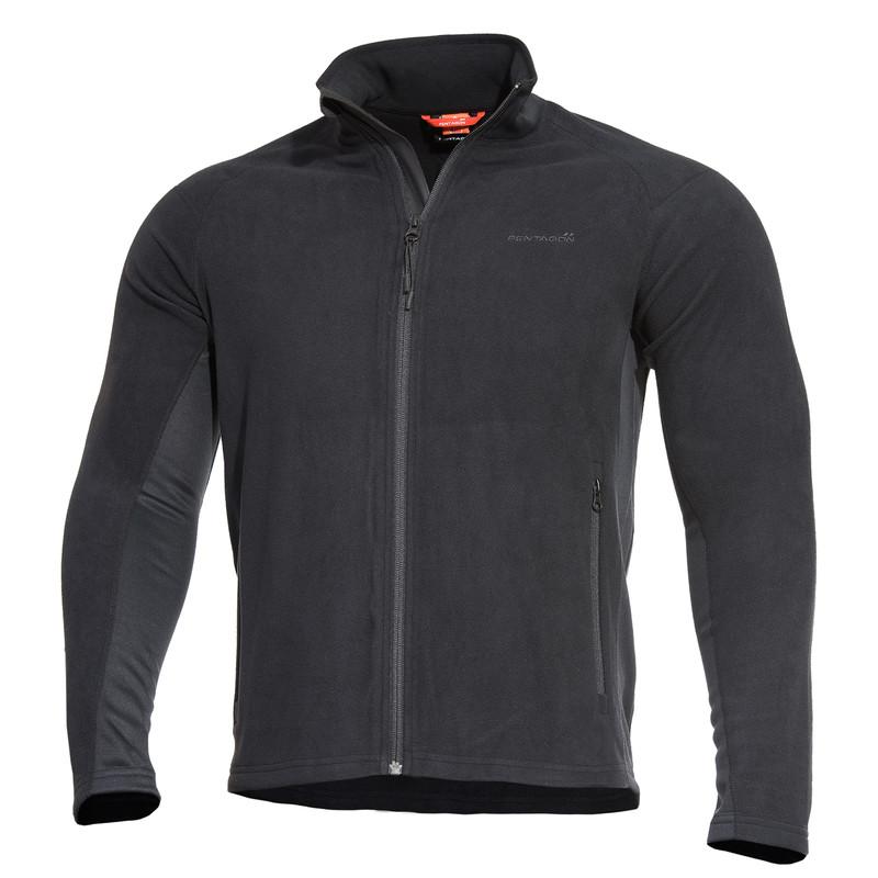 Оригинал Тактический флисовый свитер Pentagon DROMEAS K08022 Small, Чорний