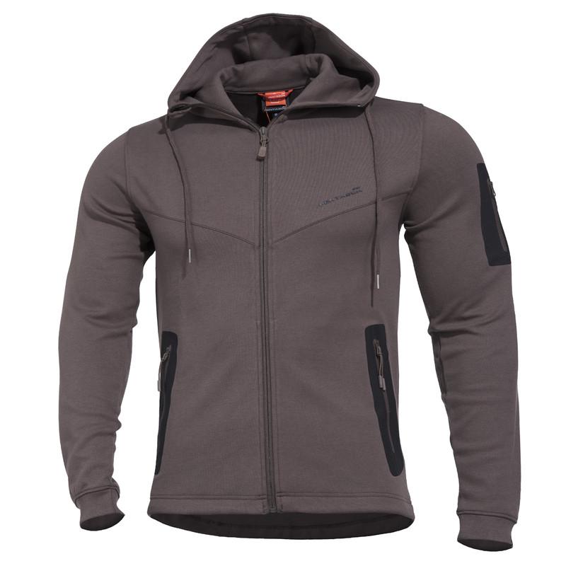 Оригинал Летний тактический свитер с капюшоном Pentagon PENTATHLON K08023 Medium, Cinder Grey (Сірий)