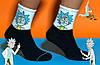 Шкарпетки білі з принтом Рік и Морті, фото 2