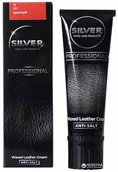 """Крем краска для обуви Silver Professional """"Waxed Leather Cream"""" (цвет красный) 75 ml"""