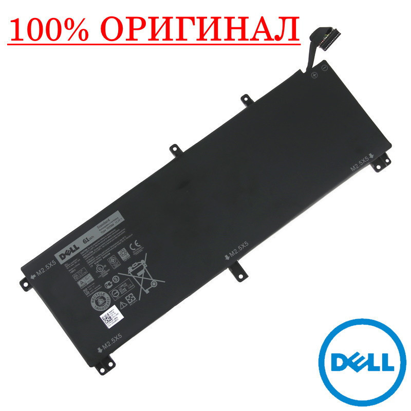 Оригинальная батарея Dell  XPS 15 9530 (T0TRM, TOTRM - 11.1V 61Wh) - Аккумулятор, АКБ