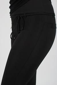 Лосины женские микродайвинг чёрные с поясом №472