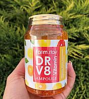 Ампульная сыворотка с витаминами FarmStay Dr-V8 Vitamin Ampoule