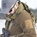 Оригинал Флисовая куртка Helikon-Tex ALPHA TACTICAL JACKET - GRID FLEECE BL-ALT Small, Койот (Coyote), фото 10
