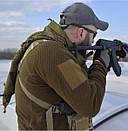 Оригинал Флисовая куртка Helikon-Tex ALPHA TACTICAL JACKET - GRID FLEECE BL-ALT X-Large, Койот (Coyote), фото 8