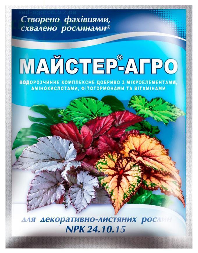 Mастер-Агро для декоративно-лиственных растений, 25 г * 10 шт
