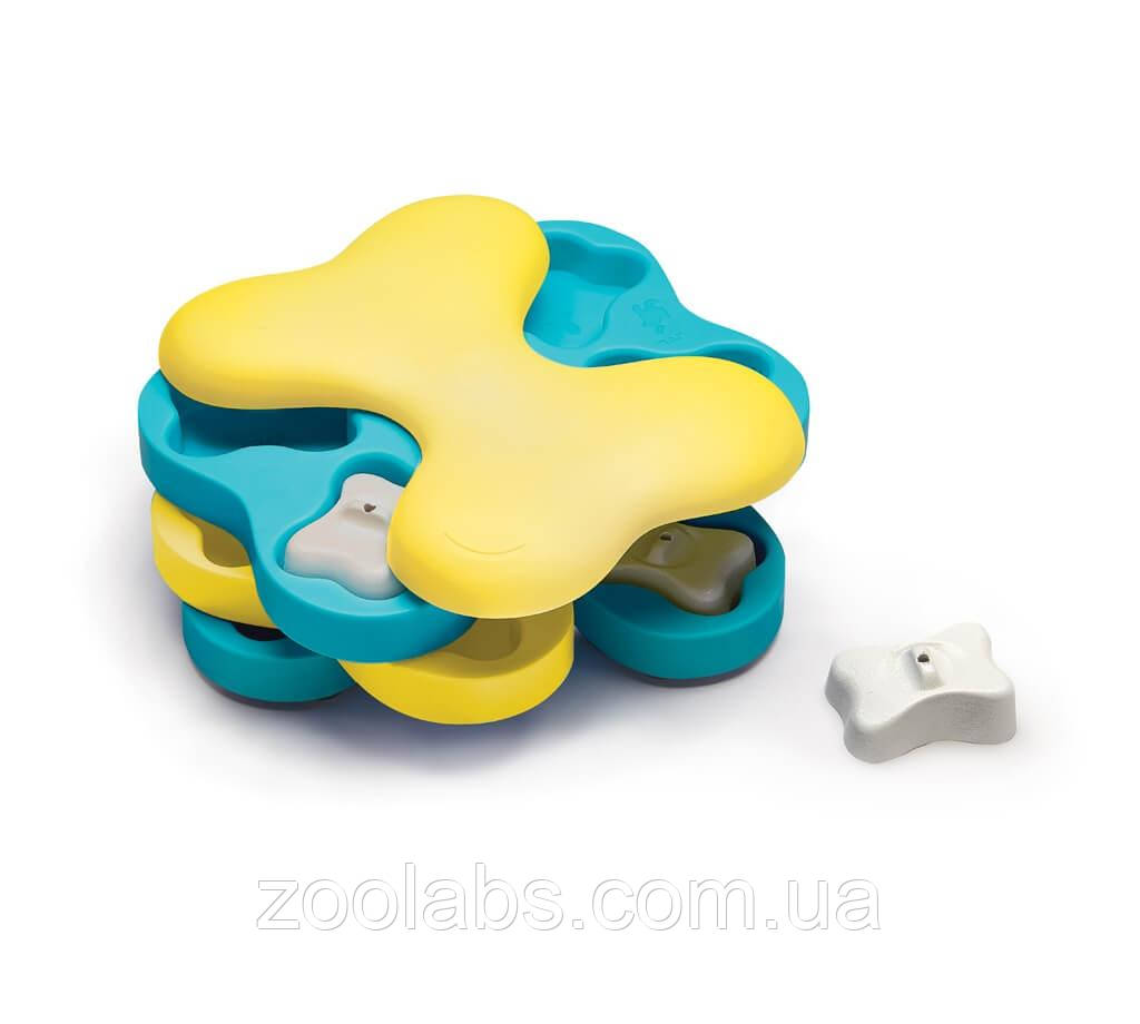 Интерактивная игрушка-головоломка для собак Nina Ottosson Dog Tornado Blu