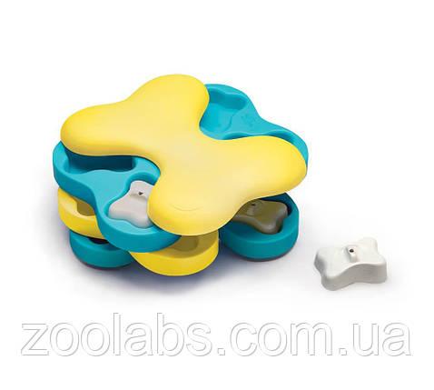 Интерактивная игрушка-головоломка для собак Nina Ottosson Dog Tornado Blu, фото 2