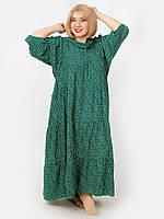 Платье в стиле бохо из штапеля. Размер oversize 56-64