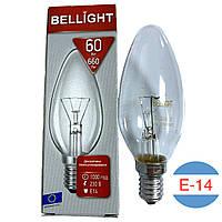 Лампочка свеча Bellight 60W (E14)