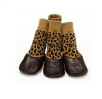 Носки для собак с латексным покрытием Леопард