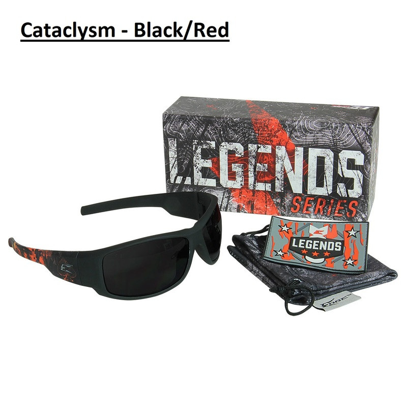 Edge Legends Ballistic Sunglasses w/Vapor Shield Anti-Fog Coating HL616 Boneyard