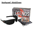 Edge Legends Ballistic Sunglasses w/Vapor Shield Anti-Fog Coating HL616 Boneyard, фото 3