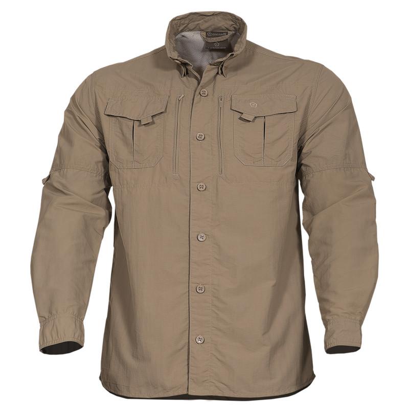 Оригинал Полевая тактическая рубашка Pentagon KALAHARI SHIRT K02011 Medium, Хакі (Khaki)