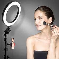 Кольцевая лампа для бьюти мастеров, фотографов и блогеров (26 см. диаметр) + штатив (110см) - Световое кольцо, фото 1