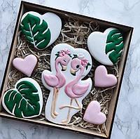 Набор имбирных пряников фламинго  на 8 марта