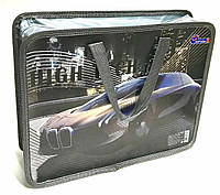 """Папка-портфель с тканевыми ручками №2008 """"High tech"""" 26*32*9см"""