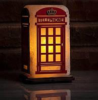 Соляная лампа светильник Телефонная будка