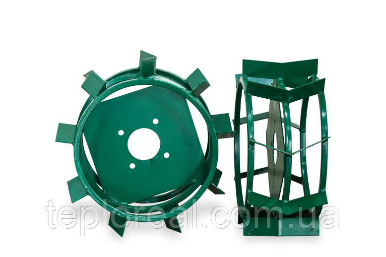 Грунтозацепи для мотоблока(залізні колеса) ф 380/160 квадрат 10х10