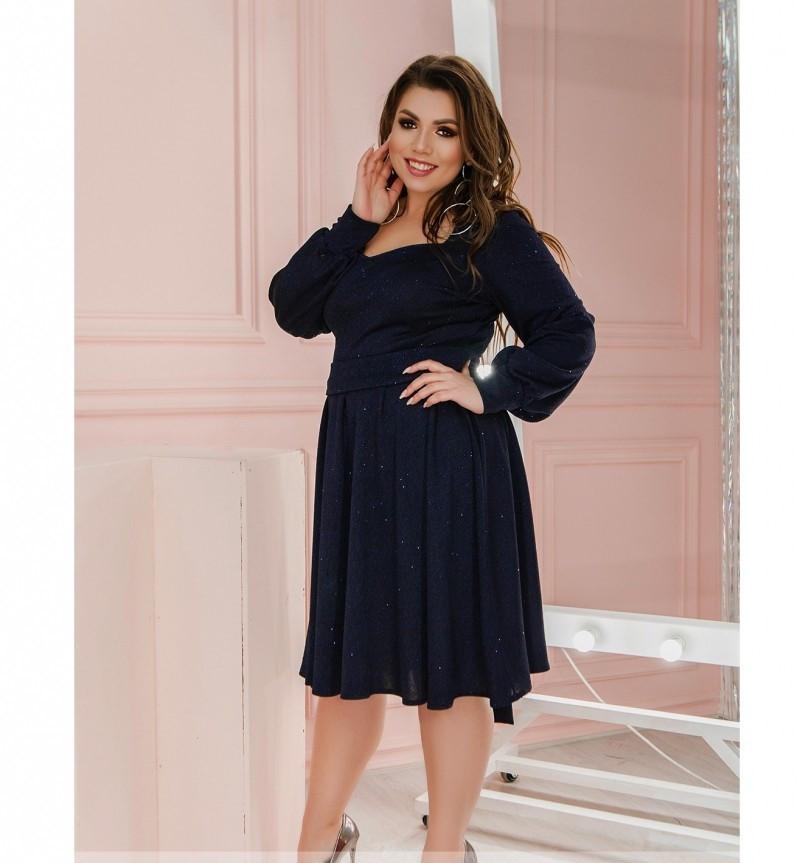Платье Minova 1210-1-темно-синий
