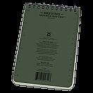 """Оригинал Всепогодный блокнот Rite In The Rain POCKET TOP-SPIRAL 946 10,16*15,24см (4""""х6"""") Олива (Olive), фото 3"""