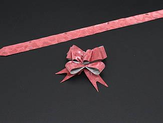 Подарочные банты на затяжках. Цвет красный.