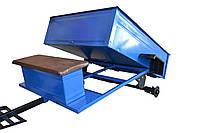 Прицеп-самосвал к мотоблоку 1150X1400 с ленточными тормозами под жигулёвскую ступицу (без колес)