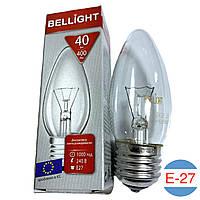 Лампочка свеча Bellight 40W (E27)