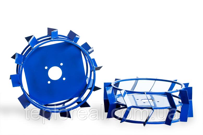 Грунтозацепы для мотоблока(железные колеса) ф 450/160 квадрат 10х10
