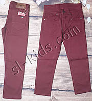 Яркие штаны для мальчика 7-11 лет (темно красные) опт пр.Турция