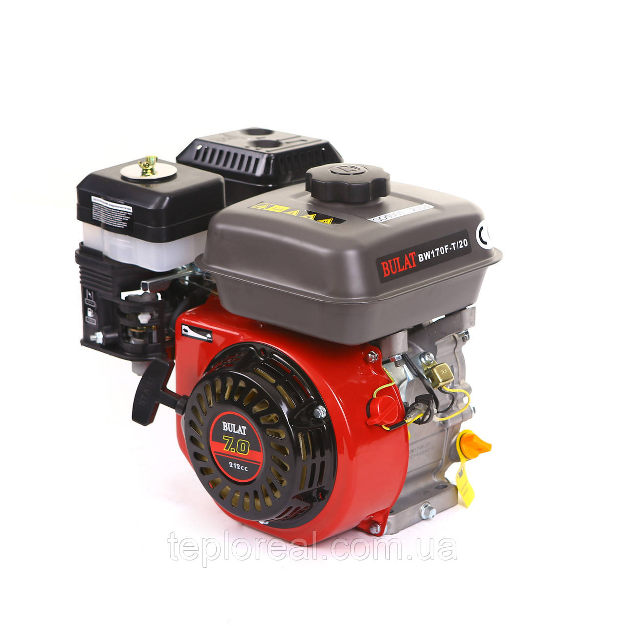 Двигатель бензиновый BULAT(WEIMA) BW170F-Т(7,5 л.с.под шлиц 20 мм)
