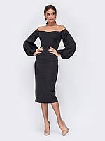 Вечернее платье черное  макси длинное  44 46 48