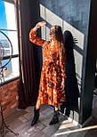 Женское нежное платье на запах с цветочным принтом (2 цвета), фото 4