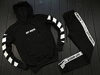 Мужской спортивный костюм Off White черный с белым, Материал: Трикотаж