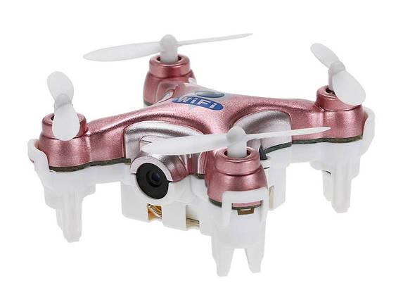 Квадрокоптер с камерой Wi-Fi Cheerson CX-10W нано (розовый), фото 2