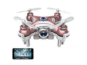 Квадрокоптер с камерой Wi-Fi Cheerson CX-10W нано (розовый), фото 3