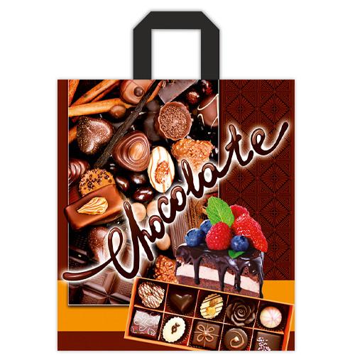 """Пакет петля """"Шоколад"""", 40х43 - 25шт."""