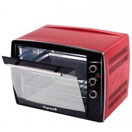 Духовка електрична VILGRAND VEO650-18 RED , конвекція, гриль, підсвічування, фото 2