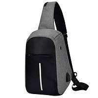 Рюкзак однолямочный Bobby Mini с USB на одно плечо антивор-сумка
