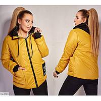 Жіноча весняна курточка з плащовки та синтепону 150, фото 1